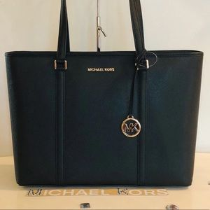 MICHAEL KORS SADY LG MULTIFUNCTIONAL LAPTOP TOTE